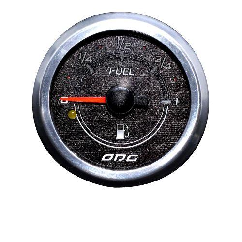 Relógio Ind. De Nível De Combustível Preto com aro cromado