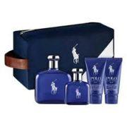 Kit Coffret Blue Polo Masculino Eau De Toilette 125 ml + Nécessarie