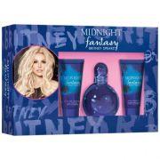 Kit Fantasy Midnight Britney Spers Feminino EDP 100ml +50ml Gel de banho +50ml Body Soufflé