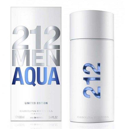 212 Men Aqua Carolina Herrera Eau de Toilette Masculino 100ml