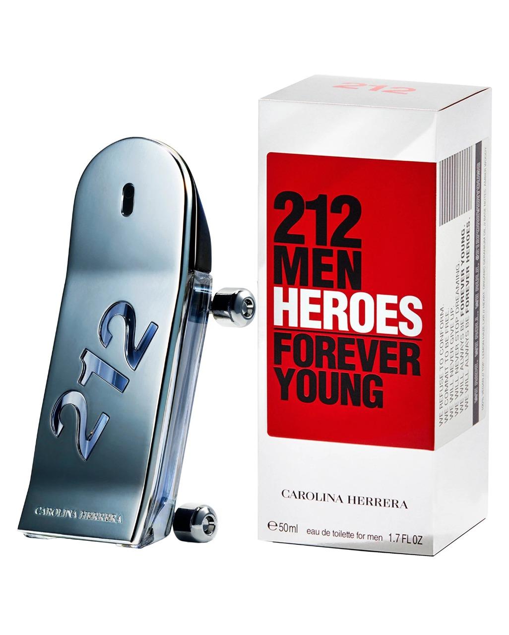 212 Men Heroes Forever Young Carolina Herrera Masculino Eau de Toilette 50ml