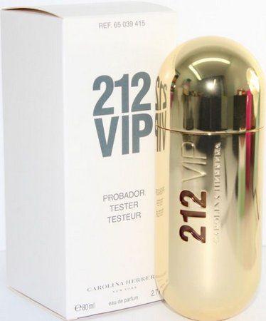 212 VIP Carolina Herrera Feminino Eau de Parfum 80ml - Tester