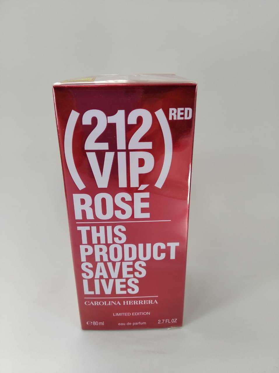 212 Vip Rosé Red. Carolina Herrera  Eau de Parfum Feminino 80ml