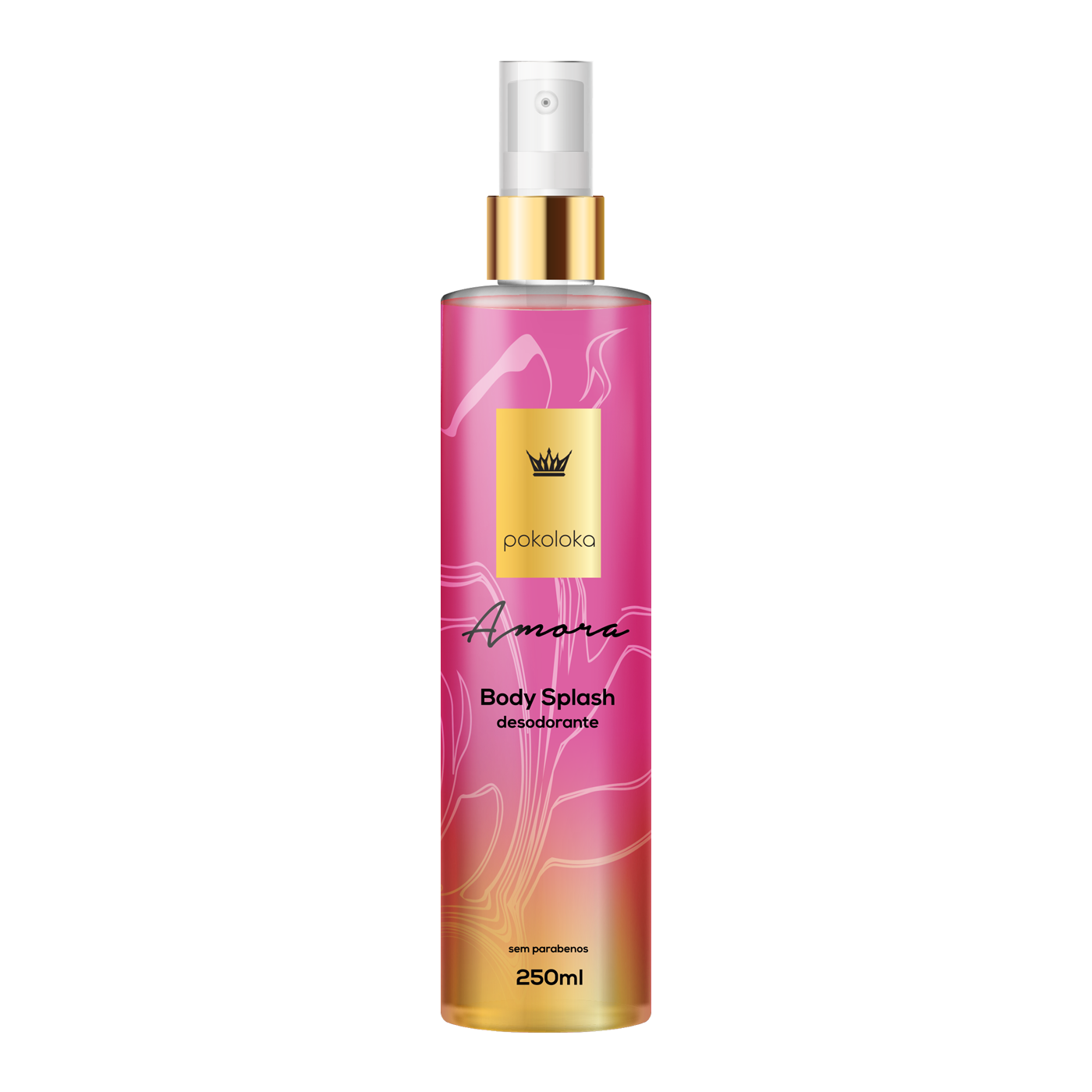 Body Splash Perfumado Amora Pokaloka 250ml