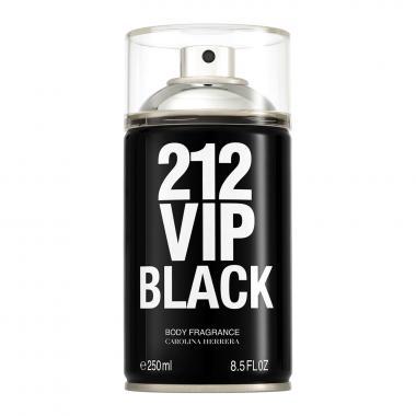 212 Vip Black  Body Fragrance Carolina Herrera Masculino  250ml