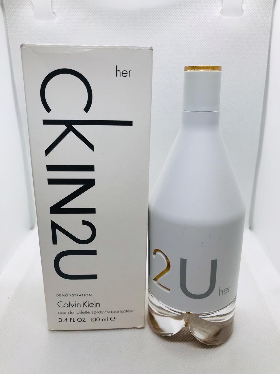 CkIN2U her Calvin Klein Feminino Eau de Toilette 100ml - Tester