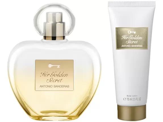 Kit Her Golden Secret Antonio Banderas Feminino Eau de Toilette 80ml + Body Lotion 75ml