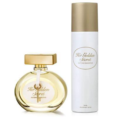 Her Golden Secret Antonio Banderas Feminino kIT EDT 80ML + Desodorante 150ML