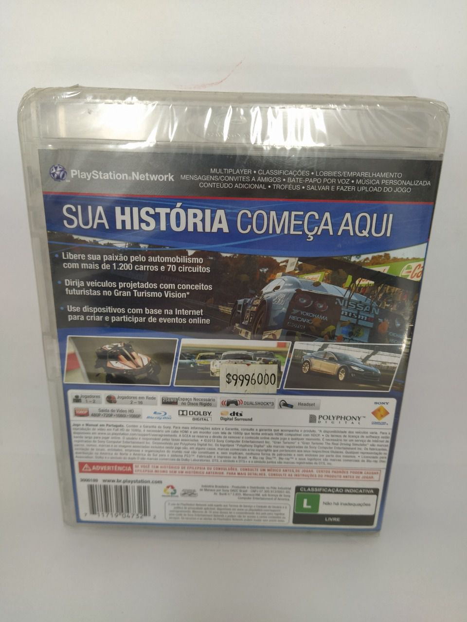 Jogo Gran Turismo 6 Novo Ps3
