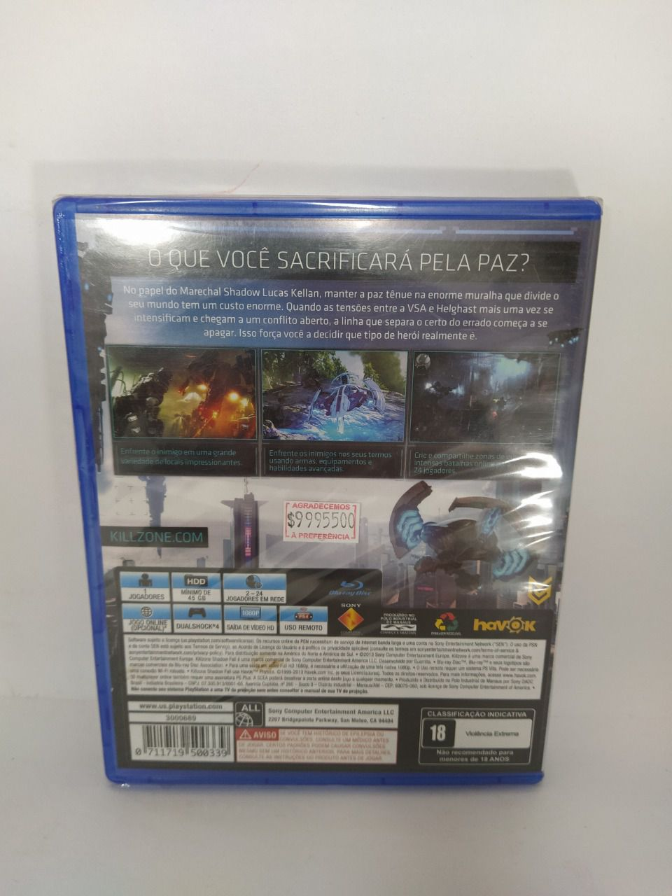 Jogo Killzone Shadow Fall Ps4 Novo