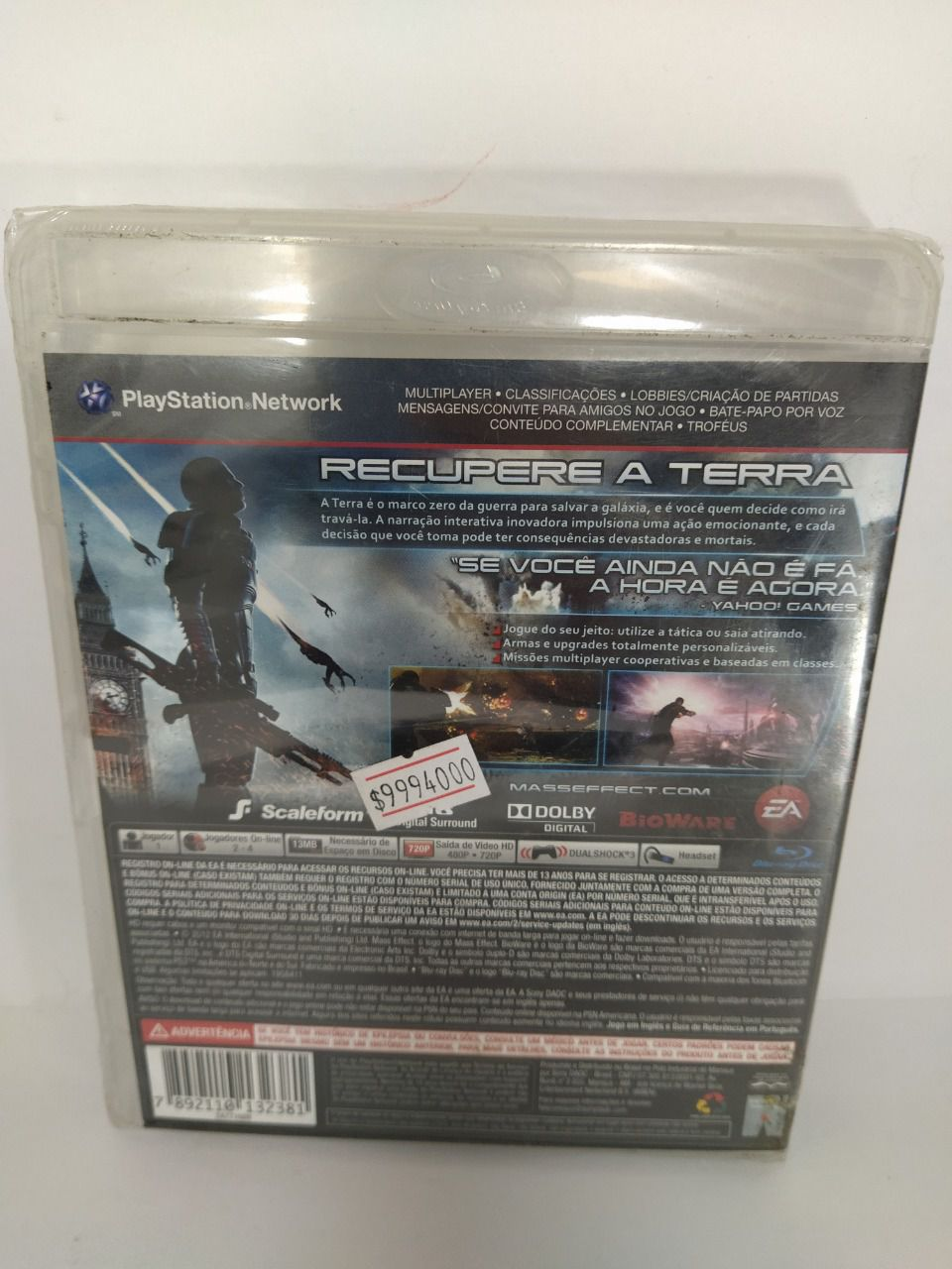 Jogo Mass Effect 3 Ps3 Novo