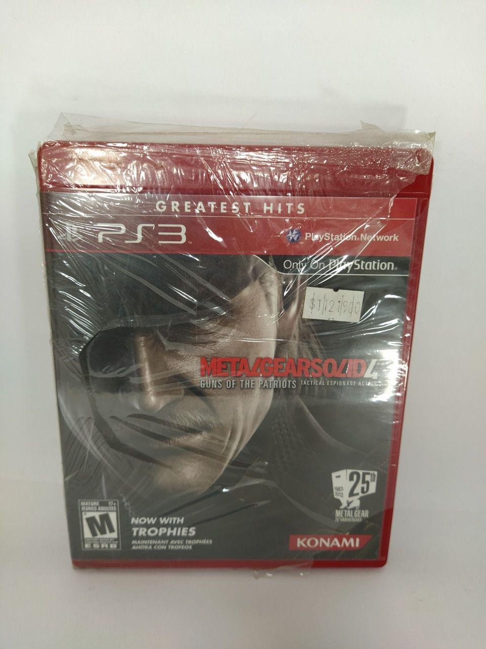 Jogo Metal Gear Solid 4 Ps3 Mídia Física Lacrado