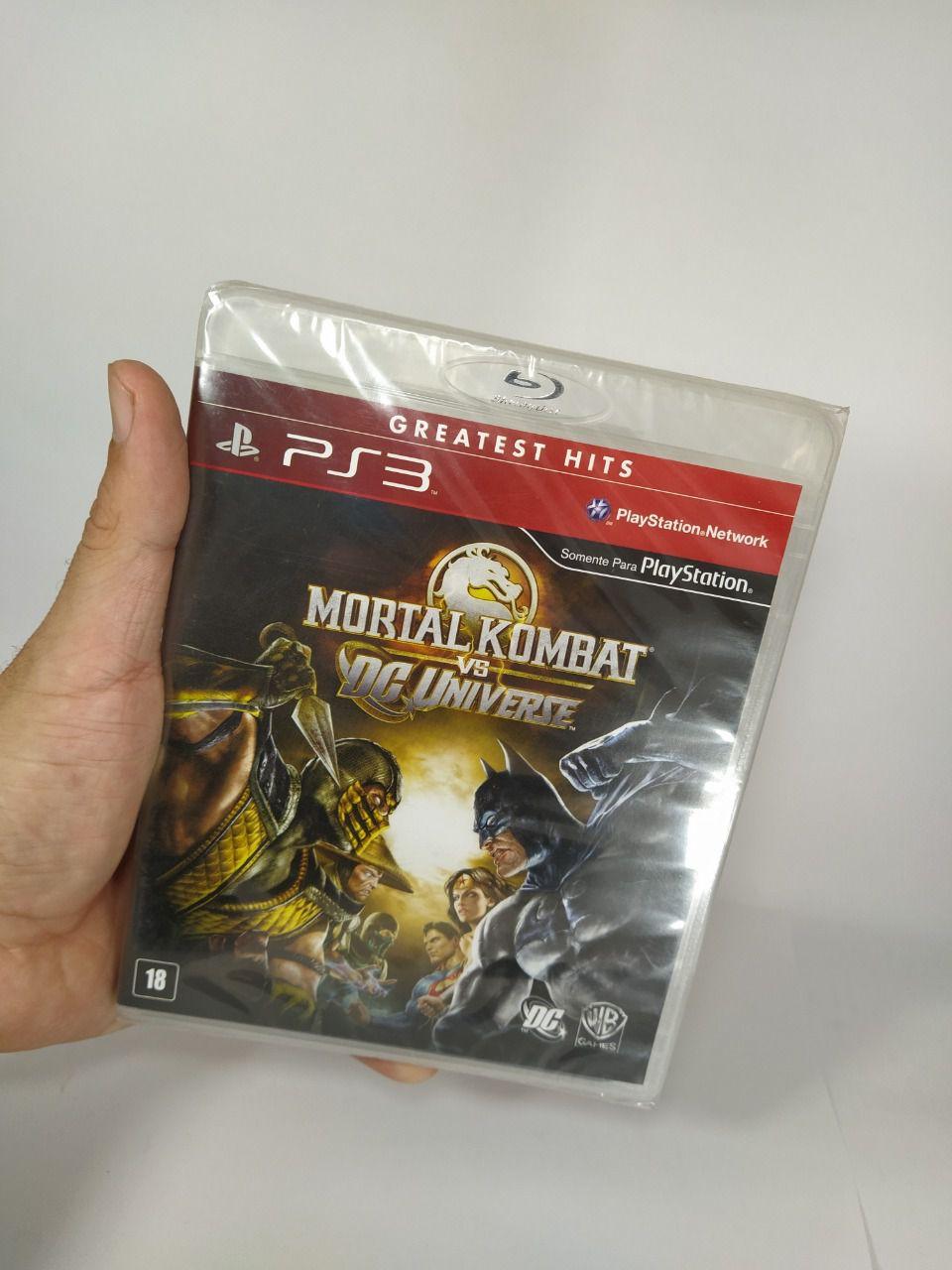 Jogo Mortal Kombat vs DC Ps3 Mídia Física Lacrado