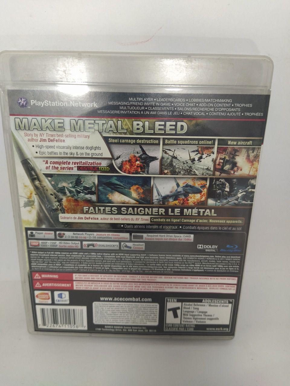 Jogo Ps3 Ace Combat: Assault Horizon Mídia Física Usado