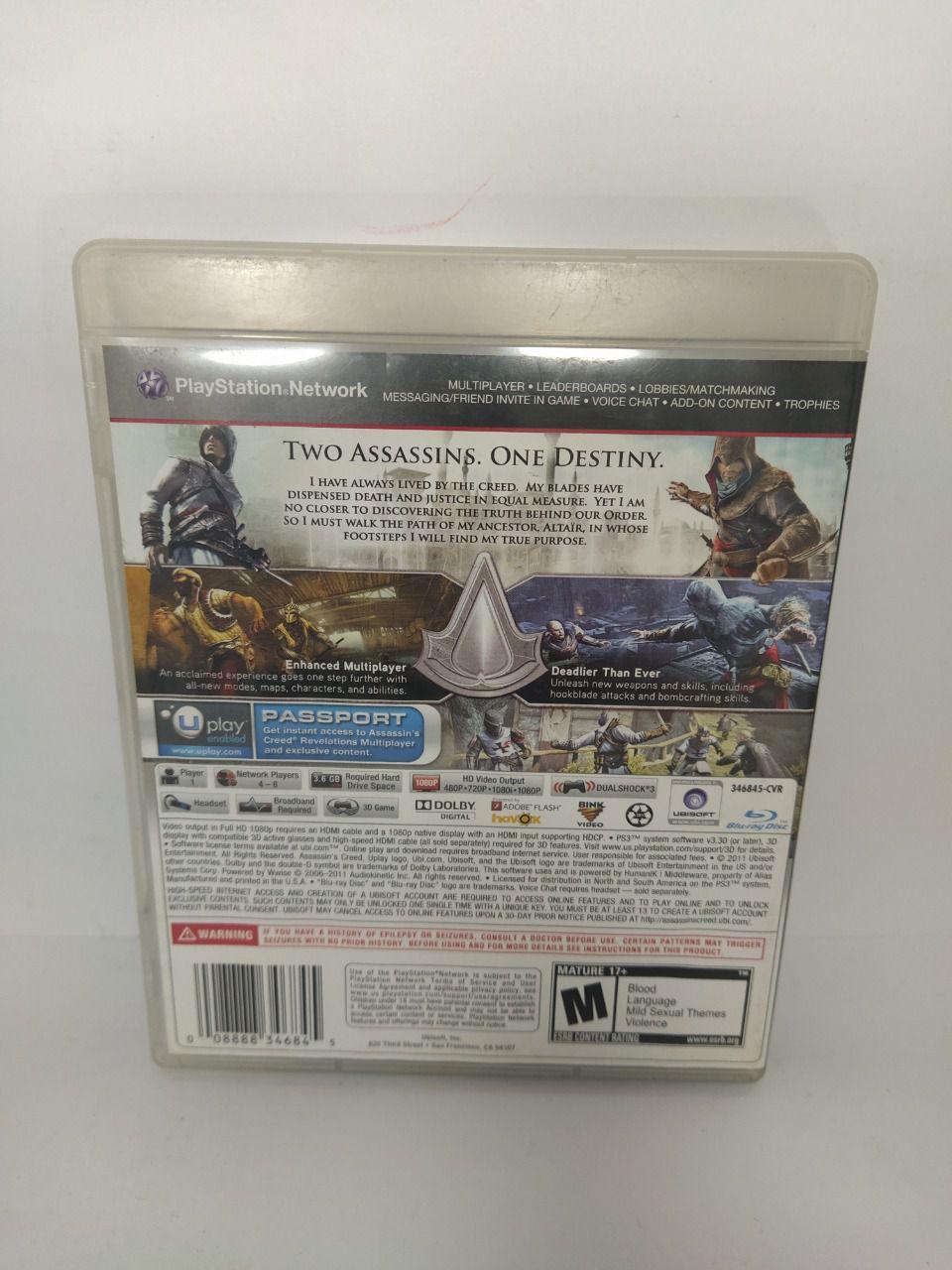 Jogo Ps3 Assassin's Creed: Revelations Mídia Física Usado