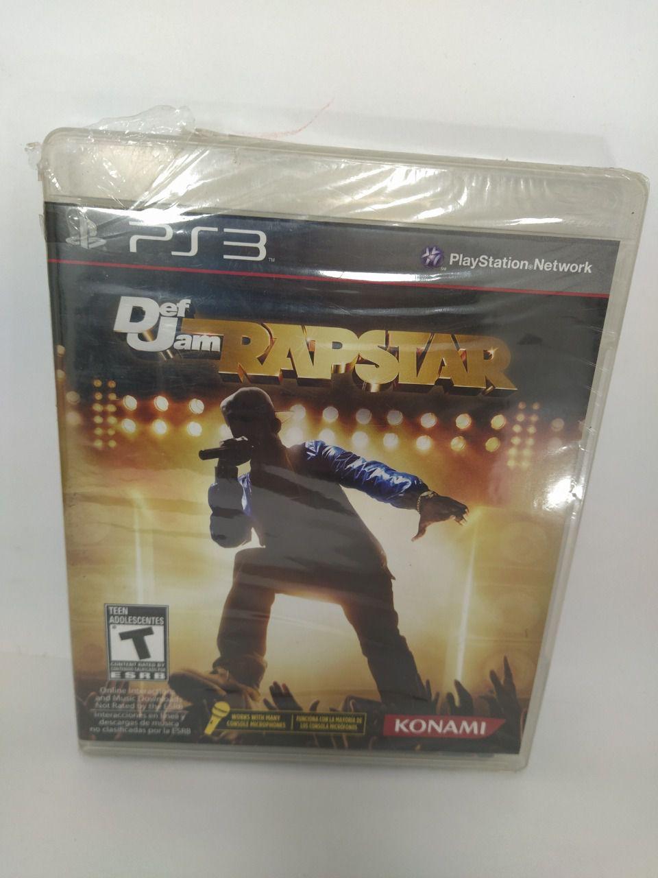Jogo Ps3 Def Jam Rapstar Mídia Física Usado