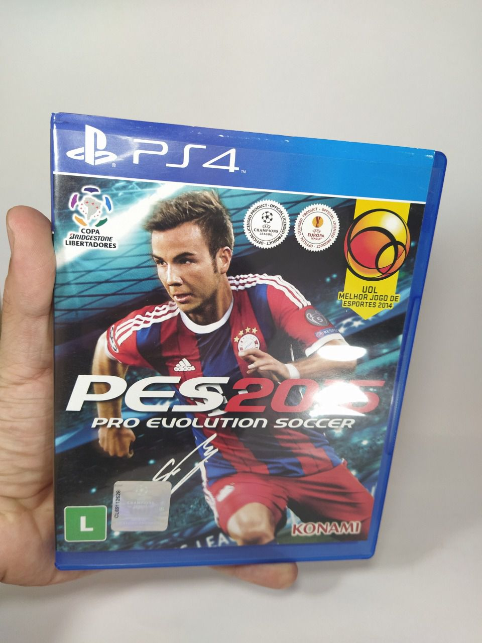 Jogo Ps4 Pro Evolution Soccer 2015 Mídia Física Usado