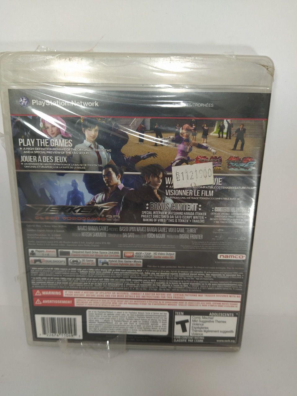 Jogo Ps3 Tekken Hybrid Mídia Física Lacrado
