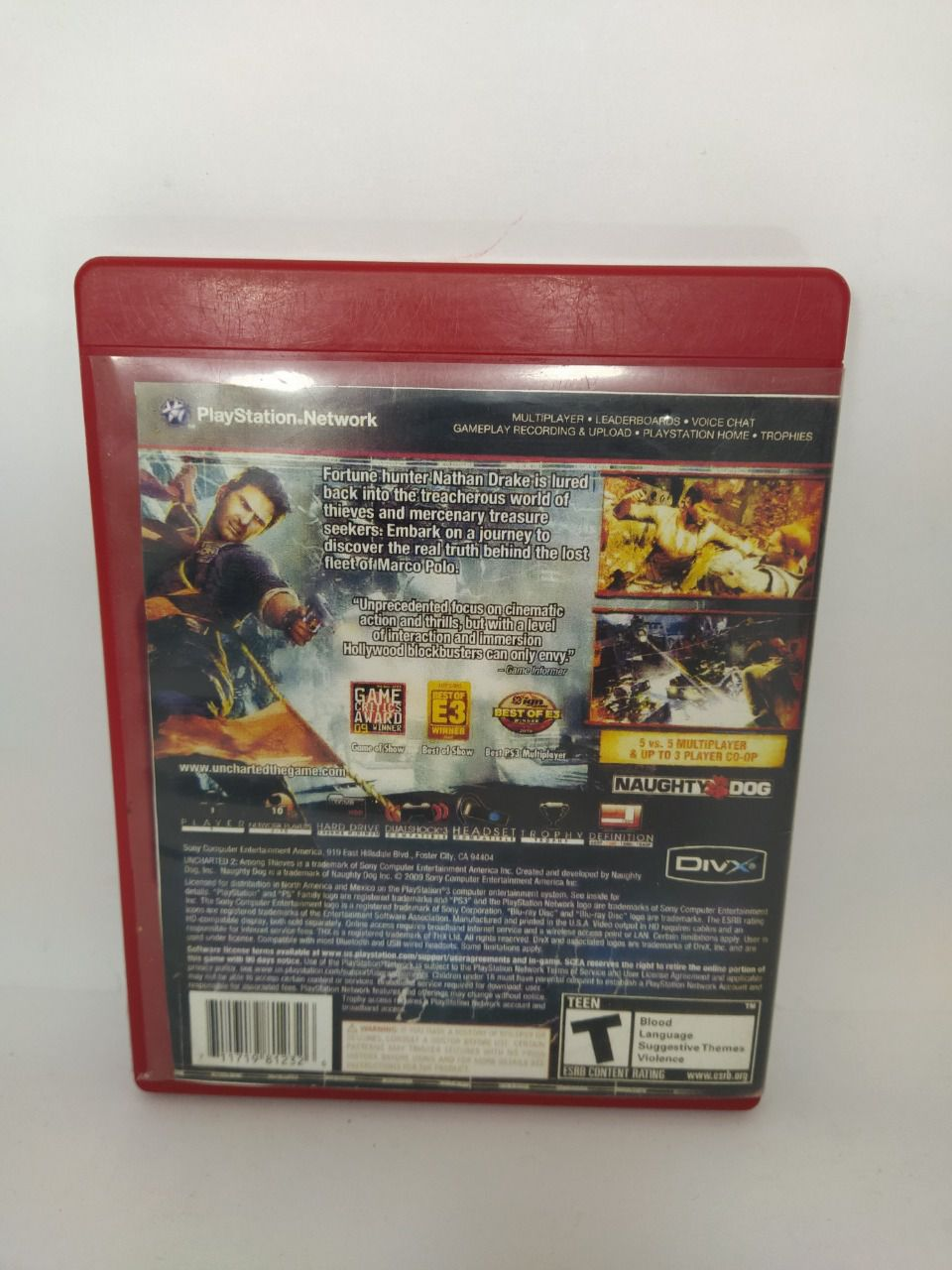 Jogo Ps3 Uncharted 2: Among Thieves Mídia Física Usado