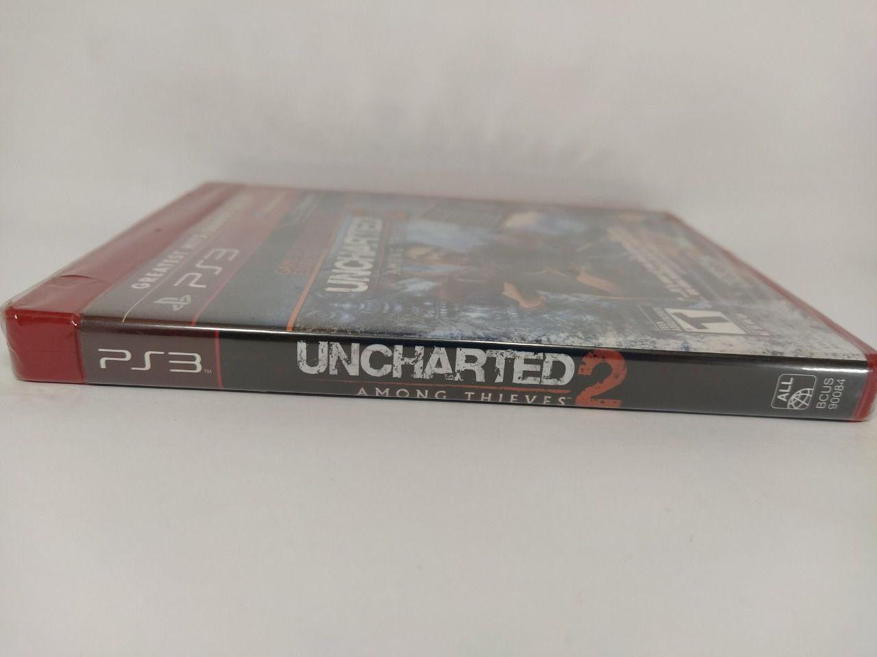 Jogo Ps3 Uncharted 2 Among Thieves Mídia Física Lacrado