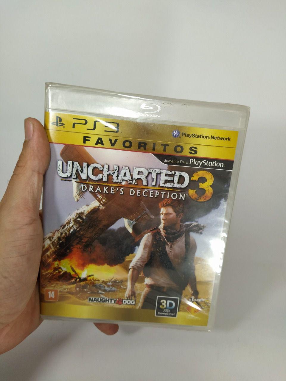 Jogo Uncharted 3 Ps3 Mídia Física Lacrado