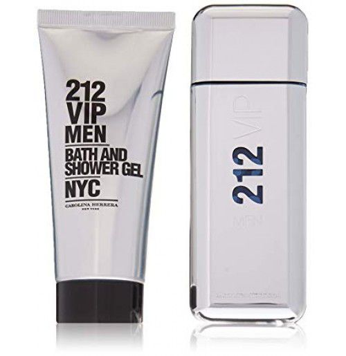 Kit 212 VIP Men Carolina Herrera Masculino Eau de Toilette 100ml + Gel de banho 100ml