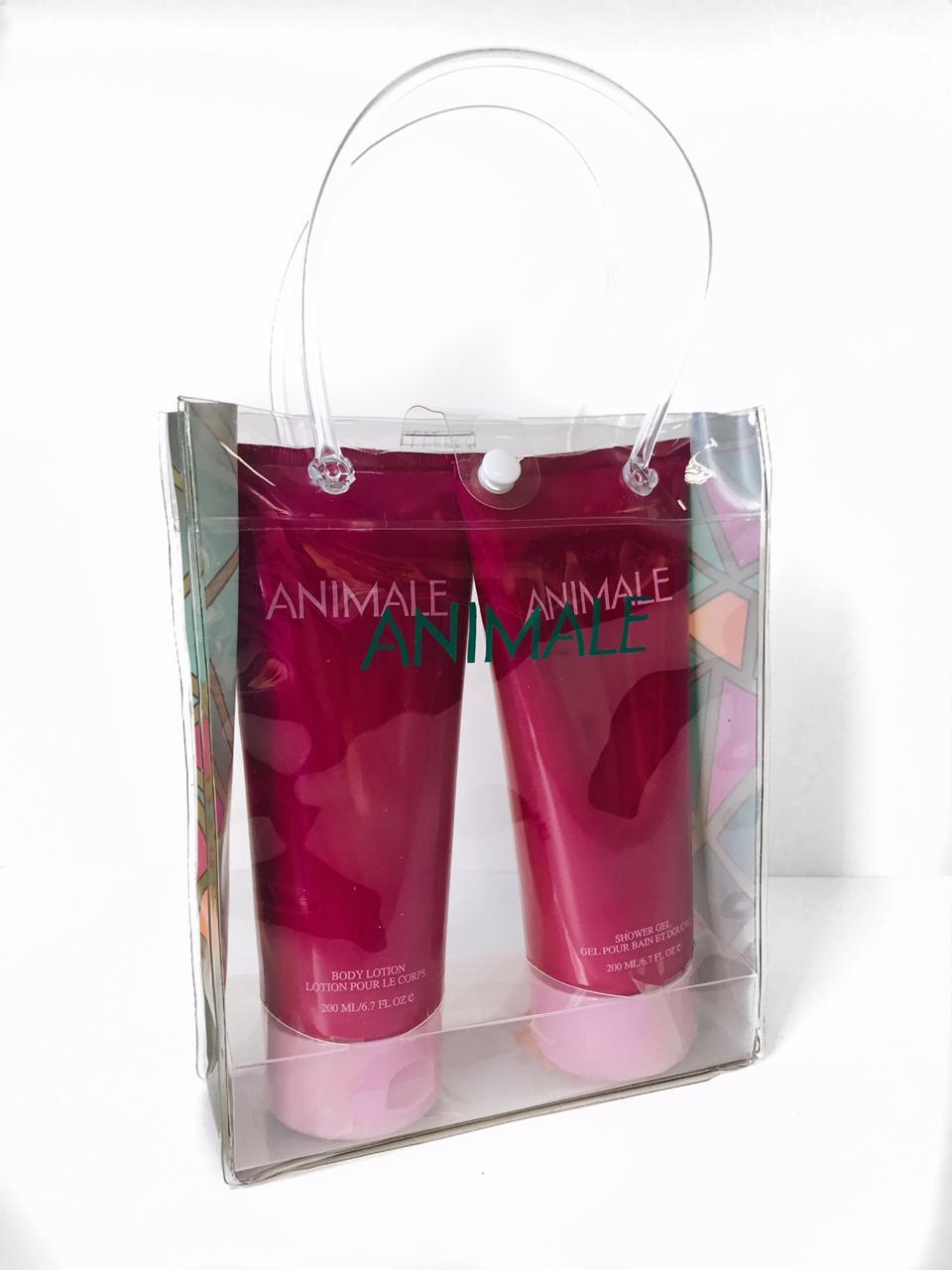 Kit Animale Feminino Body Lotion 200ml + Gel de Banho 200ml