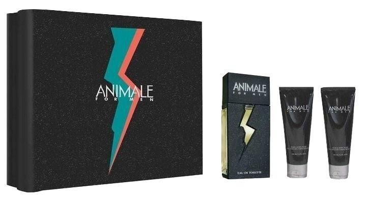 Kit Animale For Men EDT 100ml + After Shave + Gel Douche