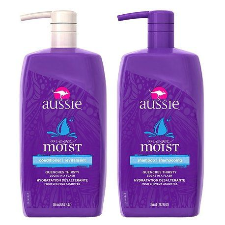 Kit Aussie  Mega Moist Shampoo 865ml + Condicionador 865ml