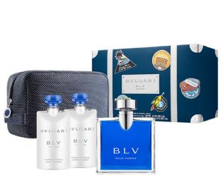 Kit BLV  Bvlgari 100 ml + After Shave Balm 2 x  75 ml + Necessaire  Eau de Toilette Masculino