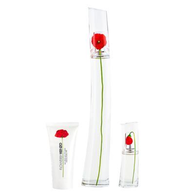 Kit Kenzo Flower By Kenzo Eau de Parfum 100ml+ Min15ml+Loção 50ml