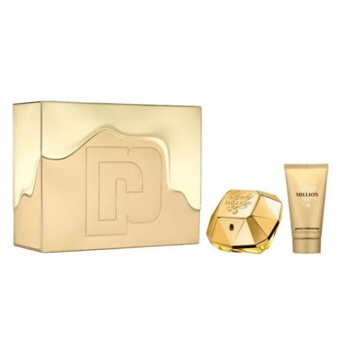 Kit Lady Million Paco Rabanne 50ml + Body Lotion 75ml