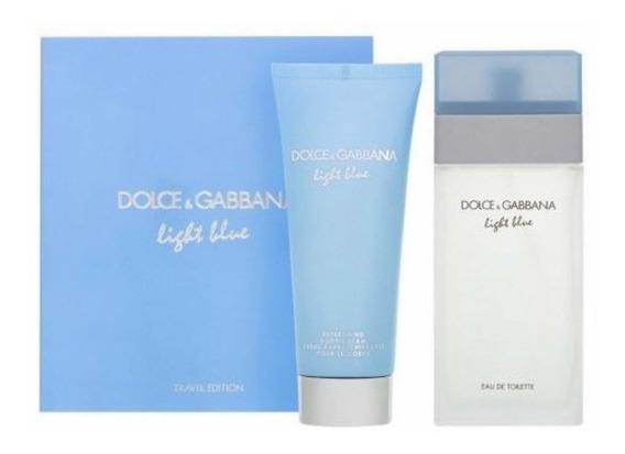 Kit Light Blue Dolce & Gabbana Feminino Eau de Toilette 100 ml + 75 ml