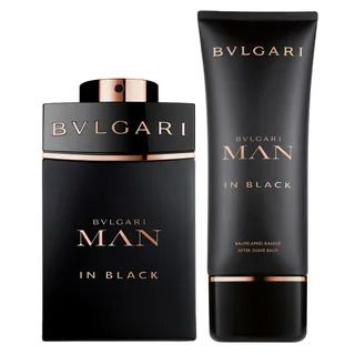 Kit Man In Black Bvlgari Masculino Eau de Toilette  100 ml + After Shave Balm 100ml + Nécessaire