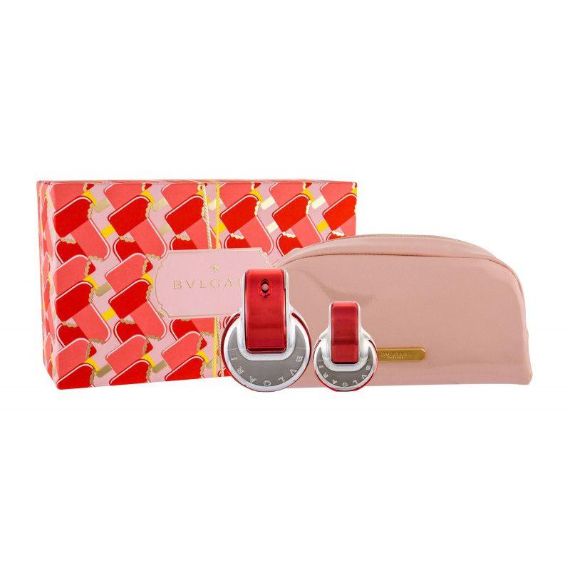 Kit Omnia Coral Bvlgari Feminino Eau De Toilette 65 ml + 15 ml Miniatura  + Nécessaire