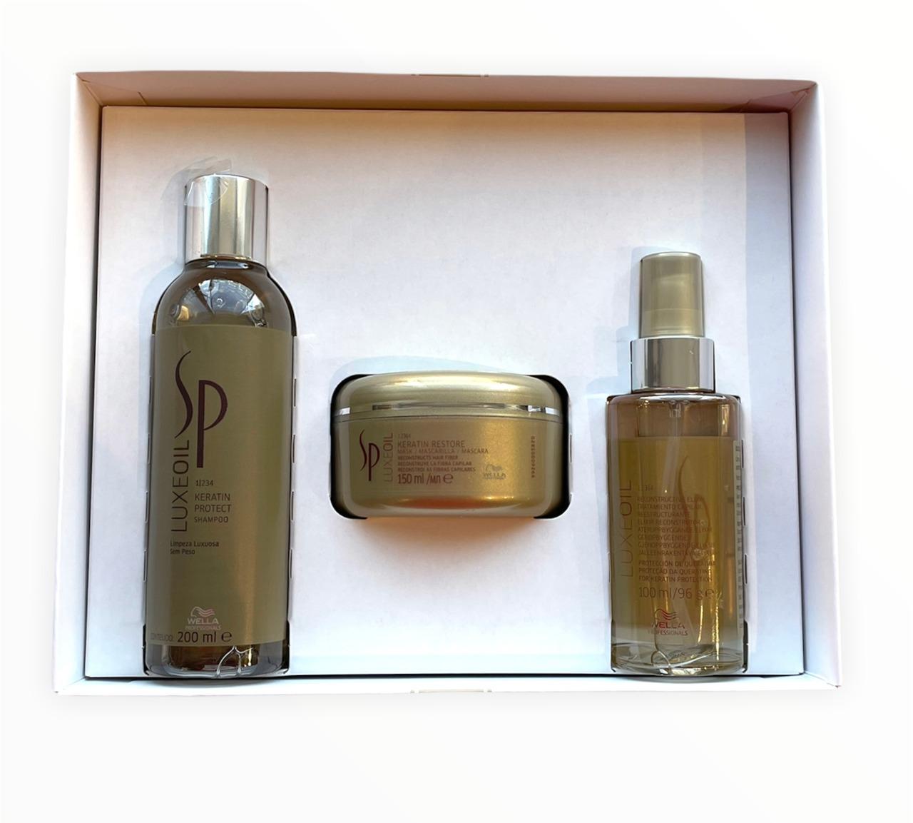 Kit SP Wella  Professional Luxe Oil Keratin Trio (3 Produtos)