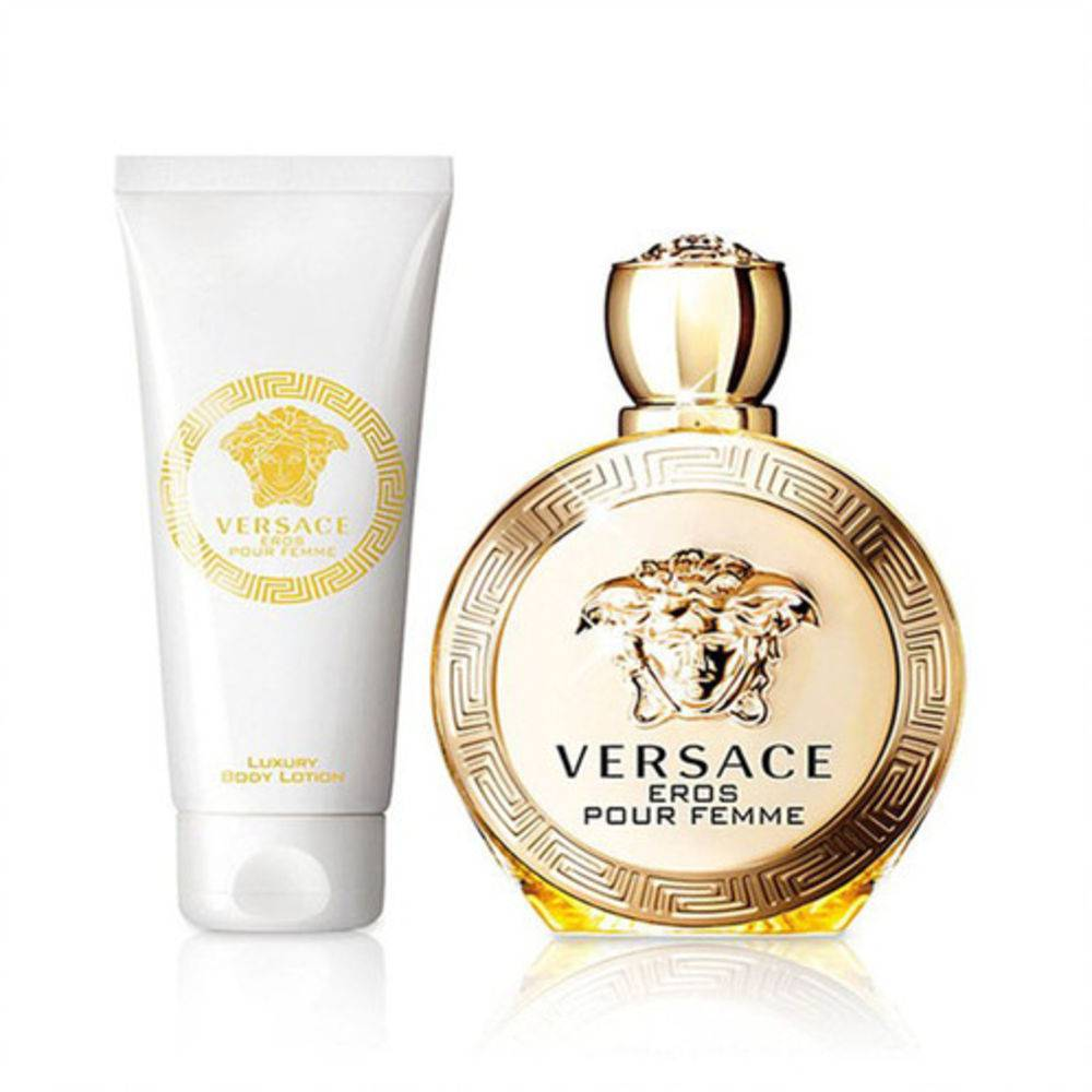 Kit Versace Eros Feminino EDP 100ml + Body Lotion 100ml