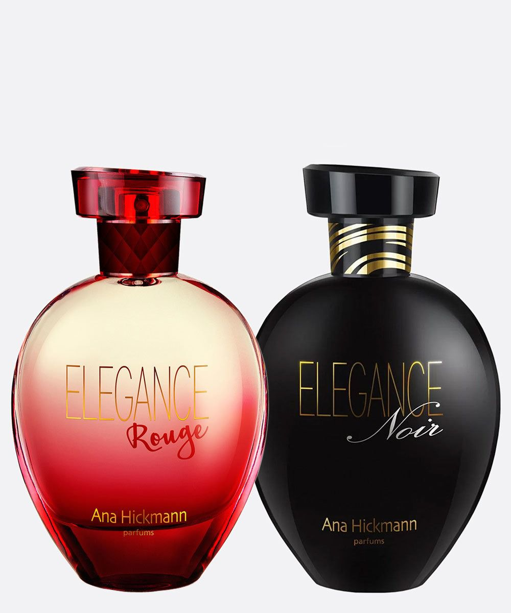 Kit VIP Elegance Rouge50ml + Elegance Noir50ml  Ana  Hickmann  Deo Colônia