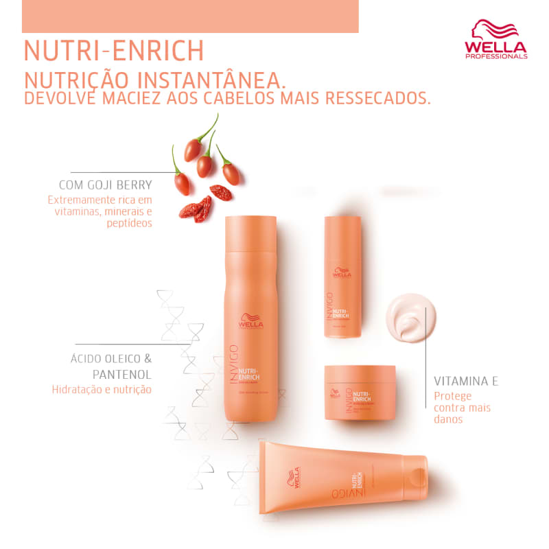 Kit Wella  Professionals Invigo Nutri-Enrich Trio Shampoo+ Mascára+Condicionador