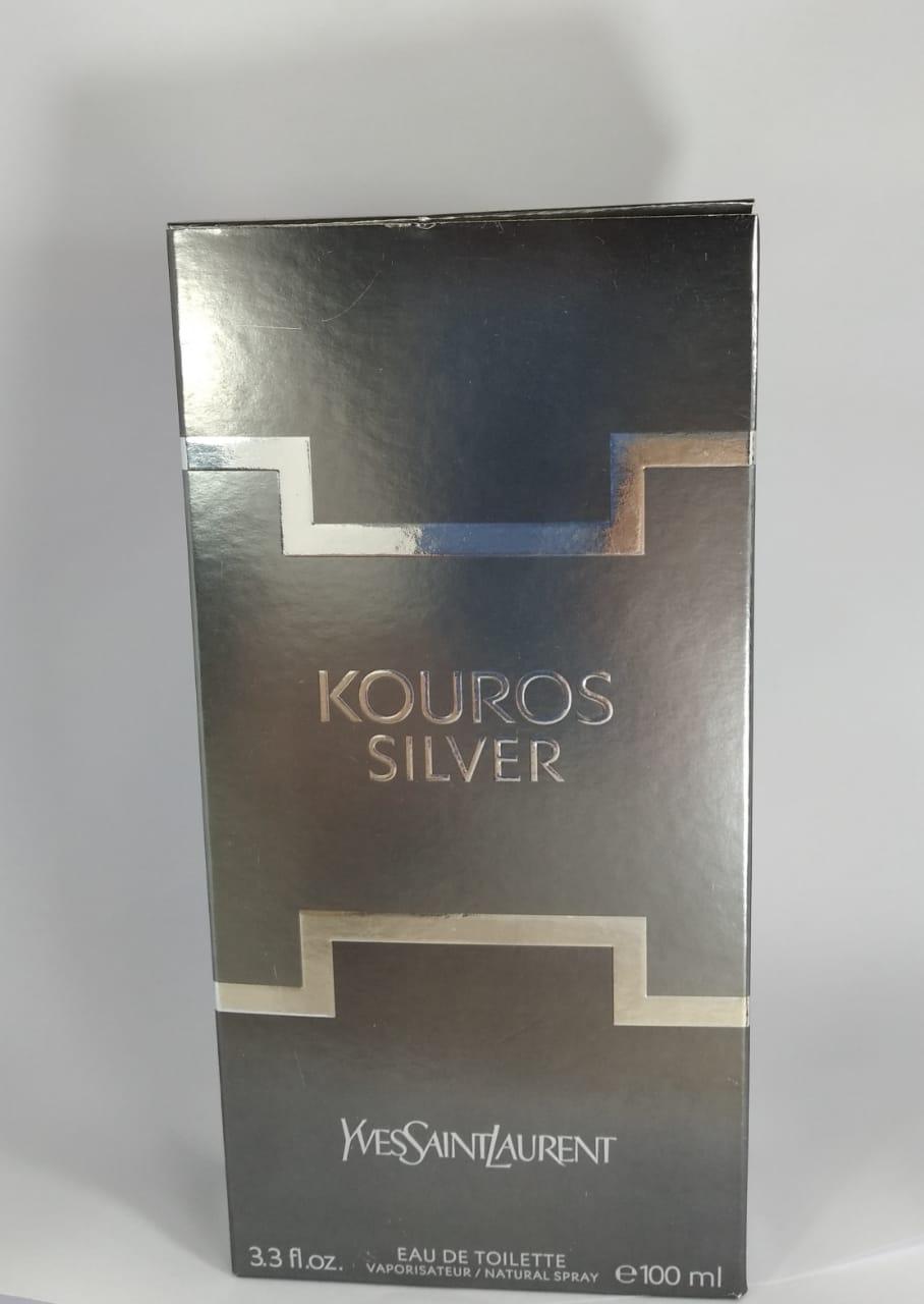 Kouros Silver Yves Saint Laurent Masculino Eau de Toilette 100 – Tester
