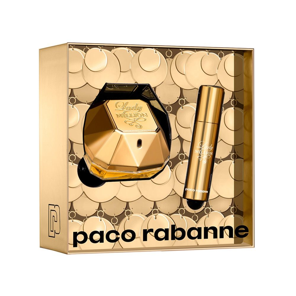 Lady Million Paco Rabanne Feminino Kit EDP 50ML + Miniatura 10ML