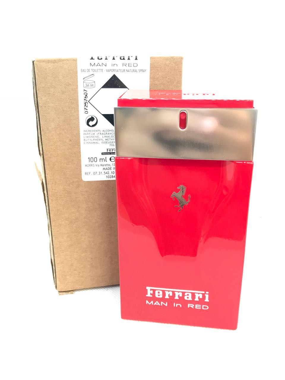 Man In Red Ferrari Masculino Eau de Toilette 100ML - Tester