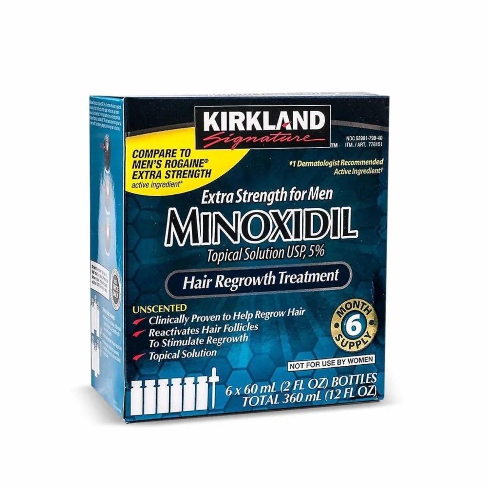 Minoxidil Kirkland  5 % - Tratamento de Crescimento de Cabelo