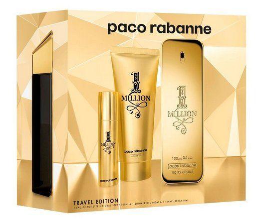 One Million Paco Rabanne Masculino Kit EDT 100ML + Miniatura 10ML + Gel de Banho 100ML