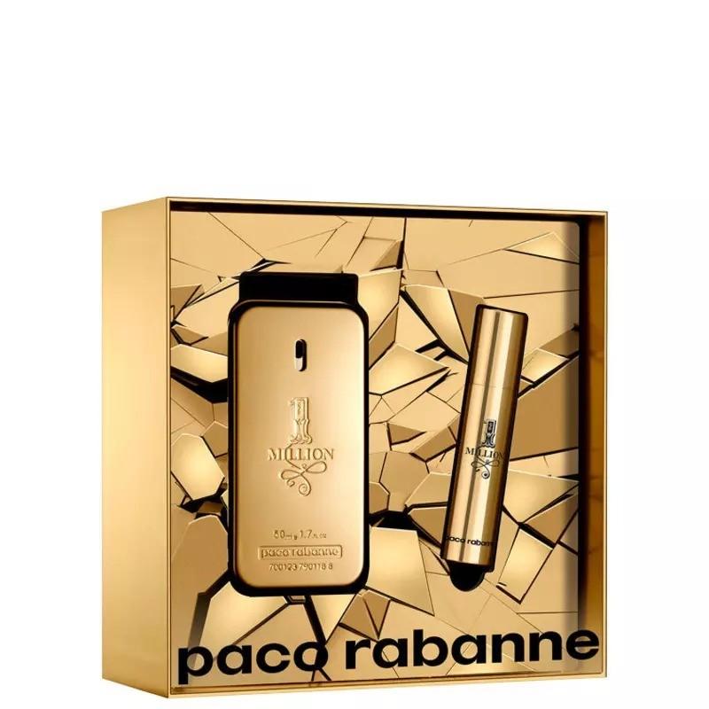 One Million Paco Rabanne Masculino Kit EDT 50ml + Miniatura 10ml