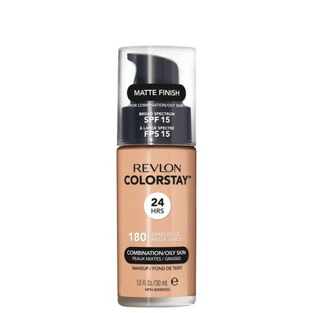 Revlon Colorstay Sand Beige  180 Pele Mista e Oleosa - Base Liquida 30ML