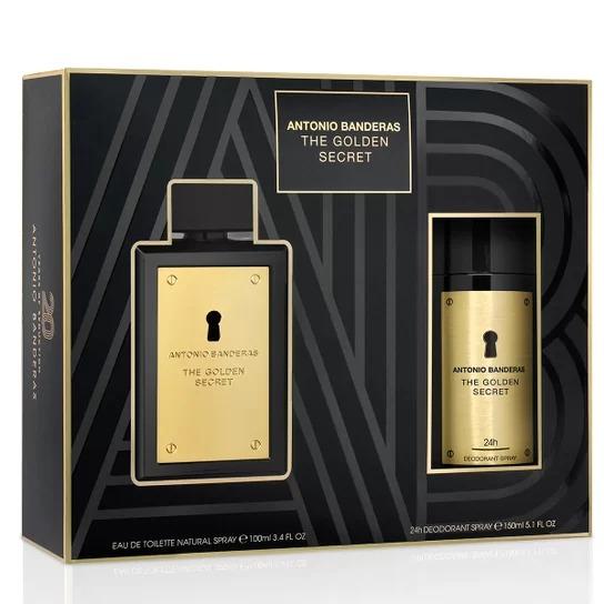 The Golden Secret Antonio Banderas Masculino Kit EDT 100ML + Desodorante 150ML