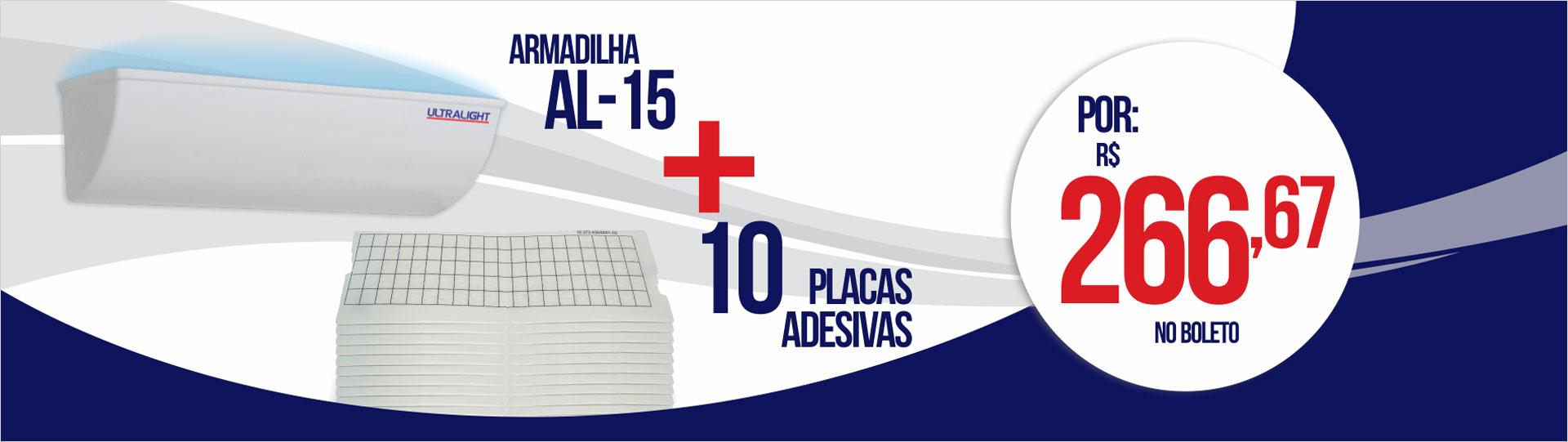 AL-15 com 10 placas adesivas