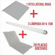 Combo Lateral 1 - 20 placas adesivas + 3 lâmpadas 15W + 1 Protetor Lateral NOVO.