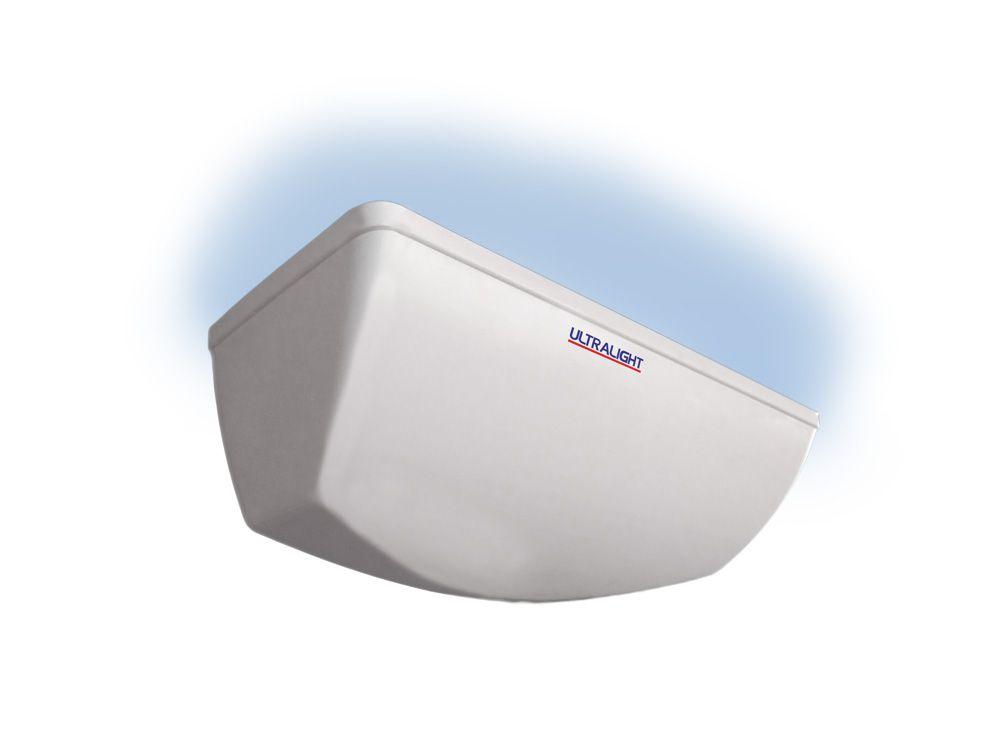 Armadilha Luminosa Ultralight Mata Mosca Maxi 15 Branco/Preto